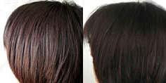 黒髪ヘナ・BeforeAfter ワントーン明るいハイライトが入り、ツヤ髪復活!